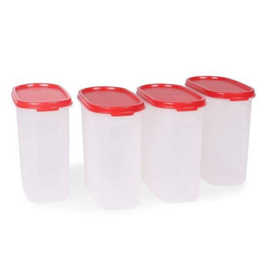 Picture of Tupperware Plastic Storage Container- 1.7 liters, 4 pieces, Multicolor