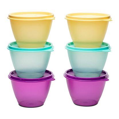 Picture of Tupperware Plastic Container - 400ml, 6 Pieces, Multicolour
