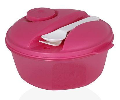 Picture of Tupperware Eat Salad On The Go Plastic Storage - 1L- Midget , Purple