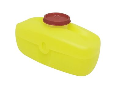 Picture of Tupperware Virgin Plastic Hot-Dog Keeper with Smidget on Top (Yellow)