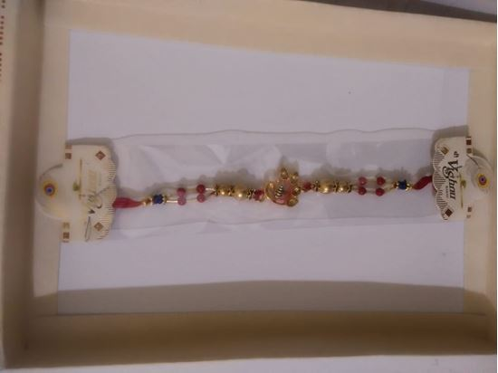 Picture of Rakhi for brother with 1 Roli tika